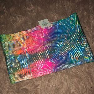 Tops - Tantric rainbow rave tube top.